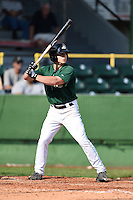 Clinton LumberKings outfielder Tyler O'Neill (31) at bat during a game against the Beloit Snappers on August 17, 2014 at Ashford University Field in Clinton, Iowa.  Clinton defeated Beloit 4-3.  (Mike Janes/Four Seam Images)