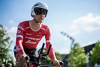 Jasper Stuyven (BEL/Trek Segafredo) ready to start his TT. <br /> <br /> Binckbank Tour 2018 (UCI World Tour)<br /> Stage 2: ITT Venray (NL) 12.7km