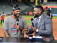 HOUSTON - OCTOBER 30: David Ortiz with Howie Kendrick following World Series Game 7: Washington Nationals at Houston Astros on Fox Sports at Minute Maid Park on October 30, 2019 in Houston, Texas. (Photo by Frank Micelotta/Fox Sports/PictureGroup)