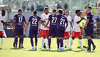 Calcio, Serie A: Fiorentina - Juventus, stadio Artemio Franchi Firenze 14 settembre 2019<br /> Juventus' players greet Fiorentina's players at the end of the Italian Serie A football match between Fiorentina and Juventus at Florence's Artemio Franchi stadium, September 14, 2019. <br /> Match's result 0-0.<br /> UPDATE IMAGES PRESS/Isabella Bonotto