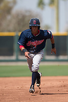 Cleveland Indians second baseman Brayan Rocchio (16) during a Minor League Spring Training game against the San Francisco Giants at the San Francisco Giants Training Complex on March 14, 2018 in Scottsdale, Arizona. (Zachary Lucy/Four Seam Images)
