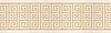 "12 1/4"" Equinox border, a hand-cut stone mosaic, shown in honed Renaissance Bronze, and Ivory Cream."