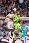 Carlos Henrique Casemiro of Real Madrid battles for the ball with Bas Dost of Sporting Portugal during their 2016-17 UEFA Champions League match between Real Madrid vs Sporting Portugal at the Santiago Bernabeu Stadium on 14 September 2016 in Madrid, Spain. Photo by Diego Gonzalez Souto / Power Sport Images