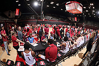 Stanford, CA -- February 1, 2020:  Stanford Cardinal Men's Basketball defeats 11th ranked Oregon, 70-60, at Maples Pavilion.