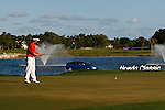 PALM BEACH GARDENS, FL. - Y.E. Yang attempts a 49 foot putt on hole 18 during final round play at the 2009 Honda Classic - PGA National Resort and Spa in Palm Beach Gardens, FL. on March 8, 2009.