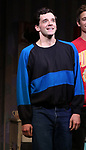"""Michaek Urie  during the Broadway Opening Night Curtain Call for """"Torch Song"""" at the Hayes Theater on November 1, 2018 in New York City."""
