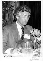 Claude Perron, President de la division des messageries du Canadien National,<br /> le 5 juin 1979<br /> <br /> PHOTO : JJ Raudsepp  - Agence Quebec presse