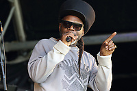 Jazzie B - Soul II Soul perform at the Pub in the Park's Drive In Garden Party at Knebworth Park, Herts on Saturday September 12th 2020<br /> CAP/ROS<br /> ©ROS/Capital Pictures