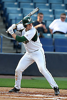 """University of South Florida Daniel Rockhold #18 during a game vs. the Miami Hurricanes in the """"Florida Four"""" at George M. Steinbrenner Field in Tampa, Florida;  March 1, 2011.  USF defeated Miami 4-2.  Photo By Mike Janes/Four Seam Images"""
