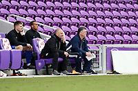 Orlando, Florida - Saturday January 13, 2018: Kris Kelderman and Bryan Scales coach Team Tango. Match Day 1 of the 2018 adidas MLS Player Combine was held Orlando City Stadium.