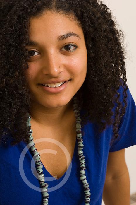 19 year old teenage girl portrait closeup vertical
