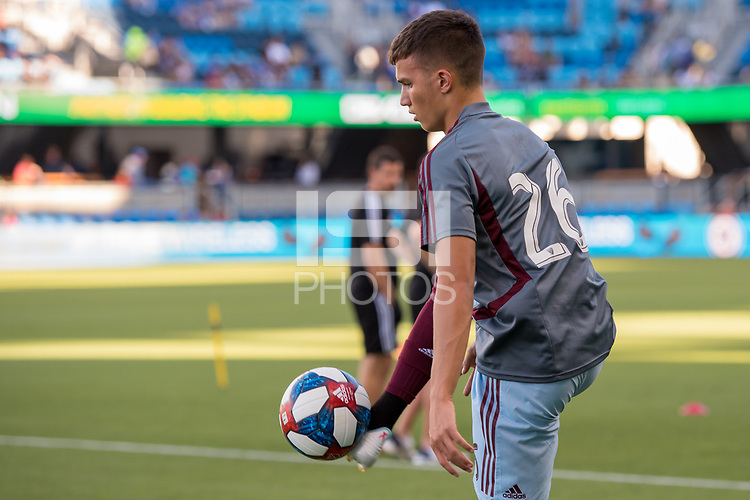 SAN JOSÉ CA - JULY 27: Cole Bassett #26 during a Major League Soccer (MLS) match between the San Jose Earthquakes and the Colorado Rapids on July 27, 2019 at Avaya Stadium in San José, California.
