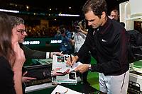 Rotterdam, The Netherlands, 16 Februari, 2018, ABNAMRO World Tennis Tournament, Ahoy, Tennis, Roger Federer (SUI)<br /> <br /> Photo: www.tennisimages.com