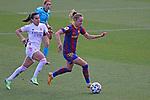 Liga IBERDROLA 2020-2021. Jornada: 18.<br /> FC Barcelona vs R. Madrid: 4-1.<br /> Thaisa de Moraes vs Caroline Graham Hansen.