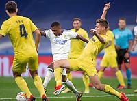 25th September 2021; Estadio Santiagp Bernabeu, Madrid, Spain; Men's La Liga, Real Madrid CF versus Villarreal CF; Juan Foyth of Villarreal challenges Rodrygo Goes for the ball