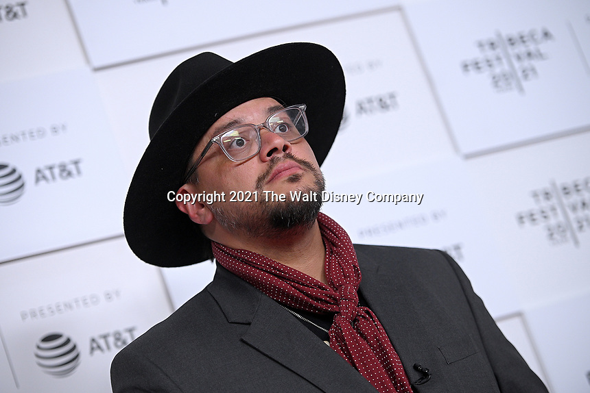 """New York CITY - JUNE 15: Writer and Director Sterlin Harjo attends the Tribeca Festival screening of FX's """"Reservation Dogs"""" on June 15, 2021 in New York City. (Photo by Anthony Behar/FX/PictureGroup)"""