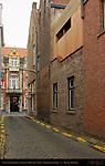 Street Scene: Ontvangerstraat and Grand Hotel du Sablon, Bruges, Brugge, Belgium