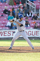 July 7, 2009: Tri-City Dust Devils' Mike Zuanich at-bat during a Northwest League game against the Salem-Keizer Volcanoes at Volcanoes Stadium in Salem, Oregon.