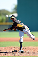 Pittsburgh Pirates pitcher Joely Rodriguez (14) during a minor league spring training intrasquad game on March 30, 2014 at Pirate City in Bradenton, Florida.  (Mike Janes/Four Seam Images)