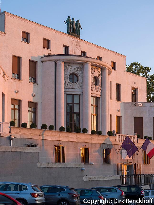 Französische Botschaft auf der Pariska, Belgrad, Serbien, Europa<br /> French embassy at the Parizka,  Belgrade, Serbia, Europe