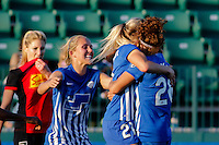 Rochester, NY - Friday June 24, 2016: Christen Westphal celebrates scoring during a regular season National Women's Soccer League (NWSL) match between the Western New York Flash and the Boston Breakers at Rochester Rhinos Stadium.