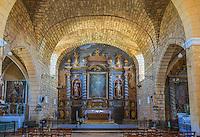 France, Lot, (46), Montcabrier: l' Église Saint-Louis: le retable baroque // France, Lot, Montcabrier: Saint-Louis church, Baroque altarpiece