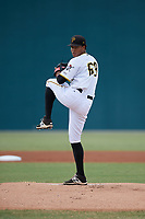 Pittsburgh Pirates pitcher Sergio Cubilete (68) delivers a pitch during an Instructional League game against the Detroit Tigers on October 6, 2017 at Pirate City in Bradenton, Florida.  (Mike Janes/Four Seam Images)
