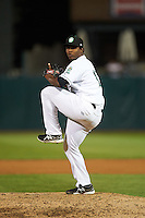 Kane County Cougars pitcher Luis Ramirez (17) delivers a pitch during a game against the Great Lakes Loons on August 13, 2015 at Fifth Third Bank Ballpark in Geneva, Illinois.  Great Lakes defeated Kane County 7-3.  (Mike Janes/Four Seam Images)