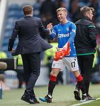 05.05.2019 Rangers v Hibs: Ross McCrorie and Steven Gerrard