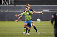 SAN JOSE, CA - OCTOBER 18: Will Bruin #17 of the Seattle Sounders during a game between Seattle Sounders FC and San Jose Earthquakes at Earthquakes Stadium on October 18, 2020 in San Jose, California.