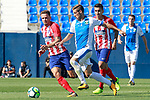 CD Leganes' Ruben Perez (c) and Atletico de Madrid's Saul Niguez (l) and Angel Correa during friendly match. August 12,2017. (ALTERPHOTOS/Acero)