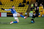 Livingston v St Johnstone…..22.01.20   Toni Macaroni Arena   SPFL<br />Michael O'Halloran shoots straight at Ross McCrorie<br />Picture by Graeme Hart.<br />Copyright Perthshire Picture Agency<br />Tel: 01738 623350  Mobile: 07990 594431