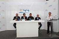 RC44 Valencia cup official presentation. Thursday April 22, 2010. Veles e Vents Building. La Marina Real Juan Carlos I, Valencia, Spain