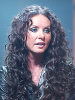 Dec 10, 2001, Montreal, Quebec, Canada; <br /> <br /> Singer Sarah Brightman  gives an interview about her new compilation album CLASSICS, Dec 10th 2001 in Montreal, Quebec, Canada<br /> <br /> Formerly married to classical composer Andrew Lloyd Weber , she played in his Broadway musical comedy ; Cats, The Phantom of the Opera.<br /> <br /> <br /> <br /> PHOTO :  Agence Quebec Presse