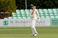 Sir Alastair Cook of Essex celebrates scoring fifty runs during Worcestershire CCC vs Essex CCC, LV Insurance County Championship Group 1 Cricket at New Road on 29th April 2021