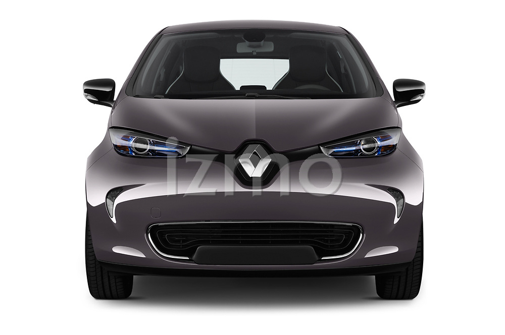 Car photography straight front view of a 2017 Renault ZOE Bose Edition 5 Door Hatchback