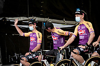 Mathieu Van der Poel (NED/Alpecin-Fenix) at the eve of his very first Tour de France at the pre Tour teams presentation of the 108th Tour de France 2021 in Brest at Le Grand Départ <br /> <br /> ©kramon