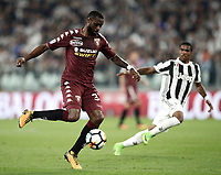 Calcio, Serie A: Torino, Allianz Stadium, 23 settembre 2017. <br /> Torino's Nicolas N'Koulou in action during the Italian Serie A football match between Juventus and Tori0i at Torino's Allianz Stadium, September 23, 2017.<br /> UPDATE IMAGES PRESS/Isabella Bonotto