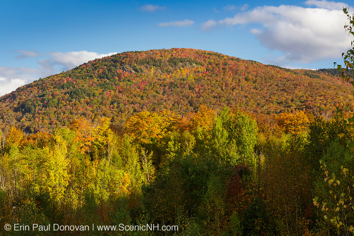 Little Coolidge Mountain in Lincoln, New Hampshire on an autumn morning. This mountainside was logged during the East Branch & Lincoln Railroad era.