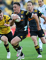 20th March 2021; Wellington, New Zealand;  Chiefs Kaleb Trask. Super Rugby Aotearoa. Hurricanes v Chiefs. Sky Stadium, Wellington. Saturday 20th March 2021.