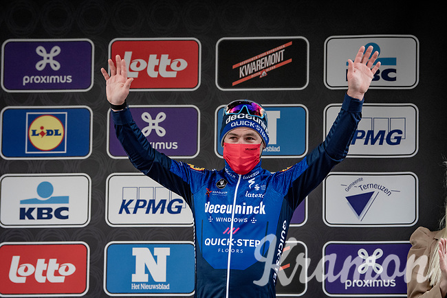 A solid performance (3rd) by Mark Cavendish (GBR/Deceuninck - Quick Step) in a race that means a lot to him<br /> <br /> 109th Scheldeprijs 2021 (ME/1.Pro)<br /> 1 day race from Terneuzen (NED) to Schoten (BEL): 194km<br /> <br /> ©kramon