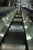 Escalator at Westminster underground station
