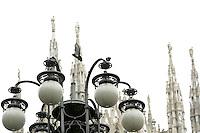 Le guglie del Duomo di Milano.<br /> The spires of the Duomo of Milan.<br /> UPDATE IMAGES PRESS/Riccardo De Luca