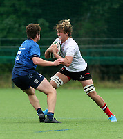 Saturday 5th September 2021<br /> <br /> Matthew French during U19 inter-pro between Ulster Rugby and Leinster at Newforge Country Club, Belfast, Northern Ireland. Photo by John Dickson/Dicksondigital