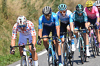 5th September 2020, Grand Colombier, France;  COSNEFROY Benoit (FRA) of AG2R LA MONDIALE, VERONA QUINTANILLA Carlos (ESP) of MOVISTAR TEAM and HERMANS Ben (BEL) of ISRAEL START - UP NATION during stage 8 of the 107th edition of the 2020 Tour de France cycling race, a stage of 140 kms with start in Cazeres-sur-Garonne and finish in Loudenvielle