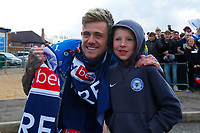 1st May 2021; Weston Homes Stadium, Peterborough, Cambridgeshire, England; English Football League One Football, Peterborough United versus Lincoln City; Sammie Szmodics of Peterborough United celebrates outside The Weston Homes Stadium after winning promotion to the EFL Championship