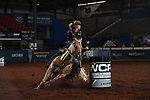 Jimmie Smith during the second round of barrel qualifiers at the WCRA Stampede at the E. Photo by Andy Watson