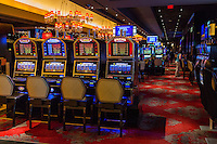 Las Vegas, Nevada.  The Cromwell Casino Slot Machines.
