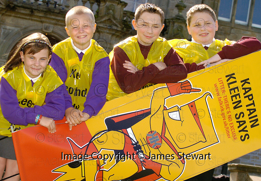 """24/08/2005         Copyright Pic : James Stewart.File Name : jspa21_litter.THE FALKIRK COUNCIL """"COMMUNITY LITTER PLAN"""" AND """"LITTERZONE WEBSITE"""" LAUNCH AT CALLENDAR HOUSE, 24TH AUGUST 2005......Payments to :.James Stewart Photo Agency 19 Carronlea Drive, Falkirk. FK2 8DN      Vat Reg No. 607 6932 25.Office     : +44 (0)1324 570906     .Mobile   : +44 (0)7721 416997.Fax         : +44 (0)1324 570906.E-mail  :  jim@jspa.co.uk.If you require further information then contact Jim Stewart on any of the numbers above........."""
