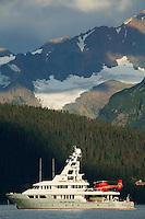 The yacht Triton in Resurrection Bay, Seward, Alaska